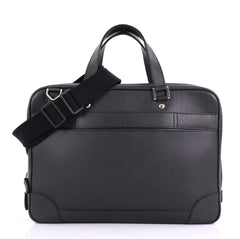 Louis Vuitton Alexander Briefcase Taiga Leather Black