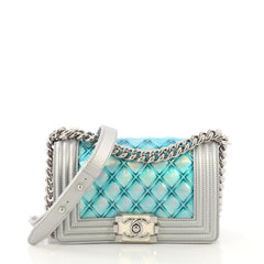 Chanel Model: Boy Flap Bag Quilted Holographic PVC Small Gray 40678/54