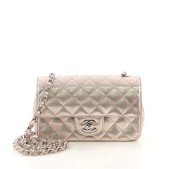 Chanel Model: Classic Single Flap Bag Pixel Effect Quilted Calfskin Mini Pink 40690/15