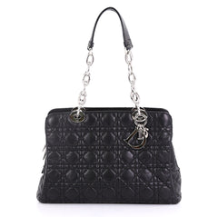 Christian Dior Soft Zipped Shopping Tote Cannage Quilt 406903