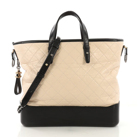 71e93ba68004 Chanel Gabrielle Shopping Tote Quilted Calfskin Large 406962 – Rebag