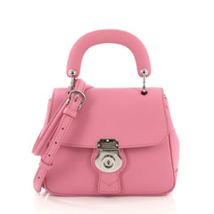 Burberry DK88 Top Handle Bag Leather Small Pink  40704/1