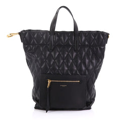 Givenchy Duo Convertible Backpack Quilted Canvas Black 40705/1