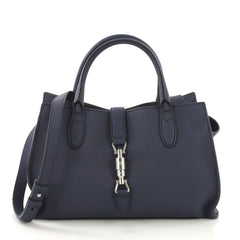 Gucci Jackie Soft Tote Leather Small Blue 407521