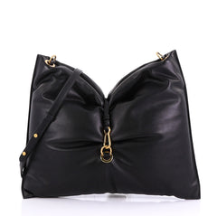 Stella McCartney Bubble Hobo Bag Faux Leather Large Black 407681