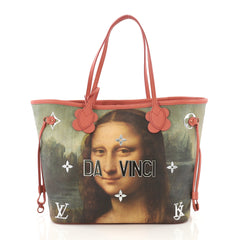 Louis Vuitton Neverfull NM Tote Limited Edition Jeff Koons Da
