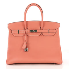 Birkin Handbag Crevette Clemence with Palladium Hardware 35