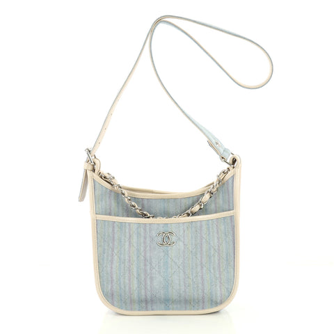 659987301a52 Chanel Jungle Stroll Hobo Quilted Printed Denim Small Blue 4079921 – Rebag