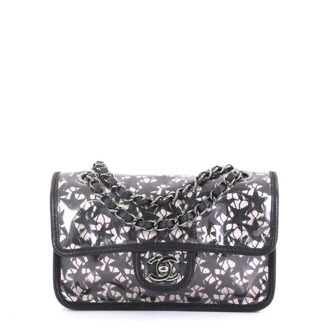 734614aa839a Chanel Vintage Classic Single Flap Bag PVC Over Lace Small 4079964 – Rebag