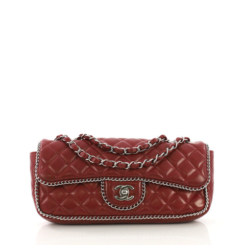 5be997944845 Chanel Madison Chain Around Flap Bag Quilted Lambskin East 408032 – Rebag