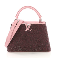 Louis Vuitton Capucines Handbag Sequins BB Pink