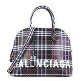 Balenciaga Model: Ville Logo Bag Printed Leather Medium Black 40808/22