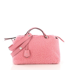 Fendi Model: By The Way Satchel Shearling Small Pink 40808/29