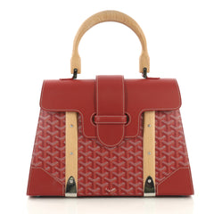 Goyard Saigon Top Handle Bag Coated Canvas with Leather MM 4081701