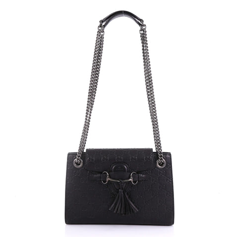 624c42071e16 Gucci Emily Chain Flap Shoulder Bag Guccissima Leather Small 408571 – Rebag