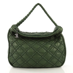 Chanel Model: Hidden Chain Hobo Quilted Lambskin Large Green 40870/19