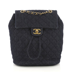 Chanel Model: Urban Spirit Backpack Quilted Denim Small Blue 40870/9