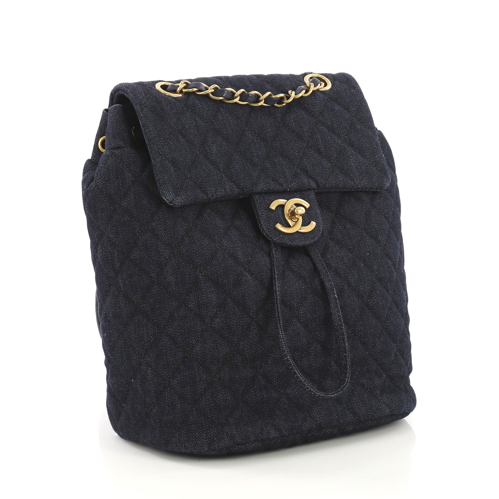 bf2097477961 Chanel Urban Spirit Backpack Quilted Denim Small Blue 408709 – Rebag