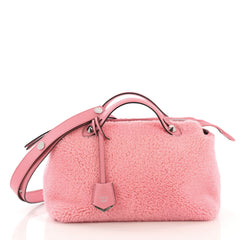 Fendi By The Way Satchel Shearling Small Pink 408801