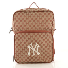 Gucci MLB Front Pocket Backpack GG Canvas With Applique 4090111