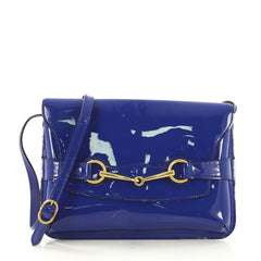 Gucci Bright Bit Shoulder Bag Patent Blue 409154
