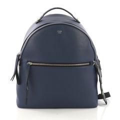 Fendi By The Way Backpack Leather with Crocodile Medium Blue 409161