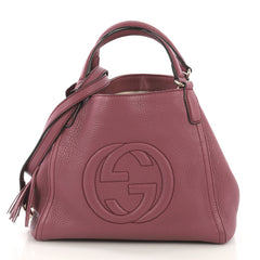 Gucci Soho Shoulder Bag Leather Small Purple 409358