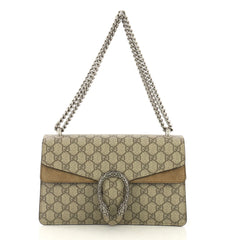 Gucci Dionysus Handbag GG Coated Canvas Small Brown 409631