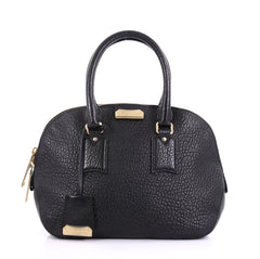 Burberry Orchard Bag Heritage Grained Leather Small Black 409694