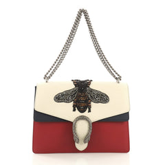 Gucci Dionysus Handbag Embellished Leather Medium Red 409762