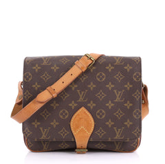 Louis Vuitton Cartouchiere Handbag Monogram Canvas GM