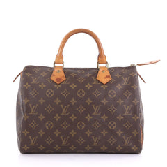Louis Vuitton Speedy Handbag Monogram Canvas 30