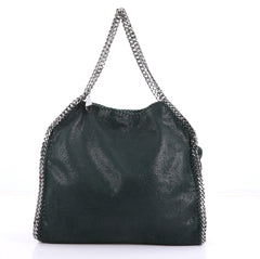 Stella McCartney Falabella Tote Shaggy Deer Small Green 409812