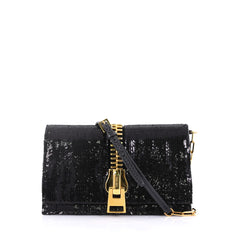Tom Ford Sedgwick Chain Clutch Sequins and Snakeskin Small 409901