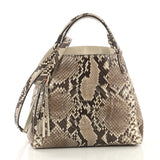 Gucci Soho Convertible Shoulder Bag Python Small Neutral 4101027