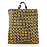 Gucci Soft Open Tote Printed Coated Canvas Tall Blue 4101030