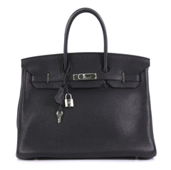 Hermes Birkin Handbag Black Togo with Palladium Hardware 35 - Rebag