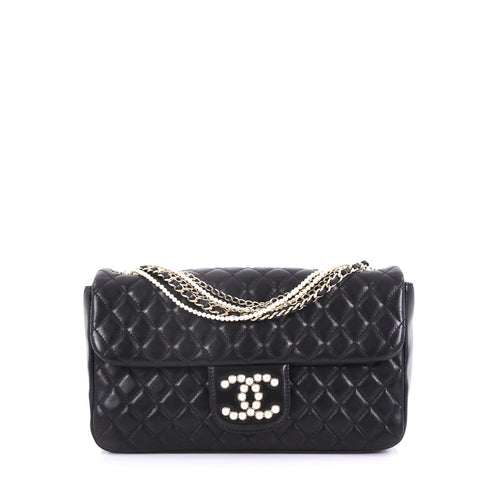 c37c834977eedd Chanel Westminster Pearl Chain Flap Bag Quilted Lambskin 4101084 – Rebag