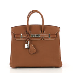 Hermes Birkin Handbag Brown Togo with Gold Hardware 25 - Rebag