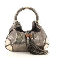Gucci Indy Hobo Python Medium Gold 4103031