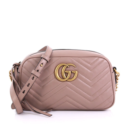 c55e9e5c01d Gucci GG Marmont Shoulder Bag Matelasse Leather Small 4104213 – Rebag