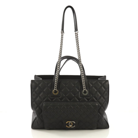 9544aa785219 Chanel Casual Pocket Shopping Tote Quilted Goatskin Large 410456 – Rebag