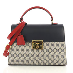 Gucci Padlock Top Handle Bag GG Coated Canvas and Leather 410702