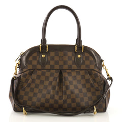 Louis Vuitton Trevi Handbag Damier PM Brown 410721