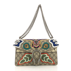 Gucci Dionysus Bag Embroidered GG Coated Canvas with Python 410881