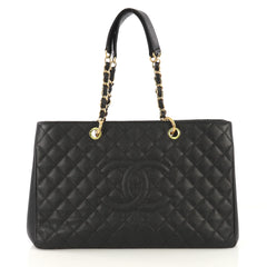 Chanel Model: Grand Shopping Tote Quilted Caviar XL Black 41091/2
