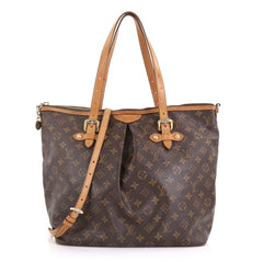 Louis Vuitton Palermo Handbag Monogram Canvas GM Brown 411321