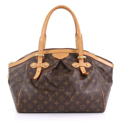 Louis Vuitton Tivoli Handbag Monogram Canvas GM Brown 411341