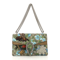 Gucci Dionysus Bag Blooms Print Embroidered GG Coated Canvas 411361