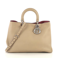 Christian Dior Diorissimo Tote Smooth Calfskin Large Neutral 411405